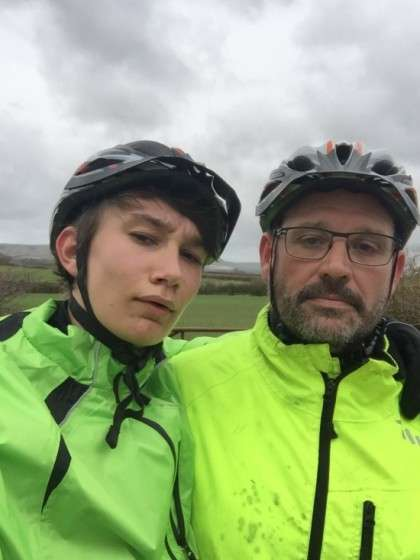 Andy Wyllie and son Ben will take part in the Brighton and Hove Albion charity bike ride to Brussels.