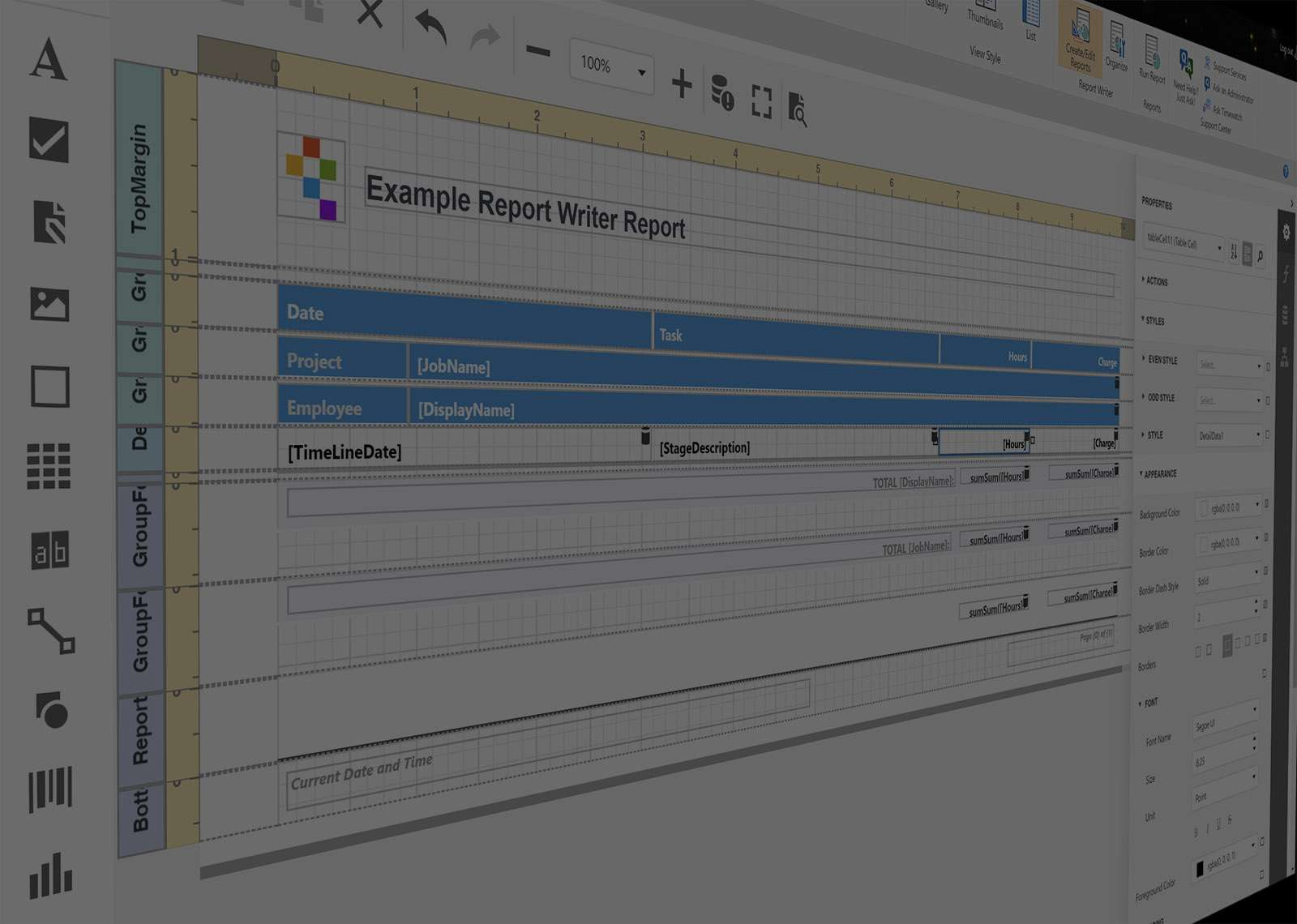 New Scheduling and Timesheet Report Writer