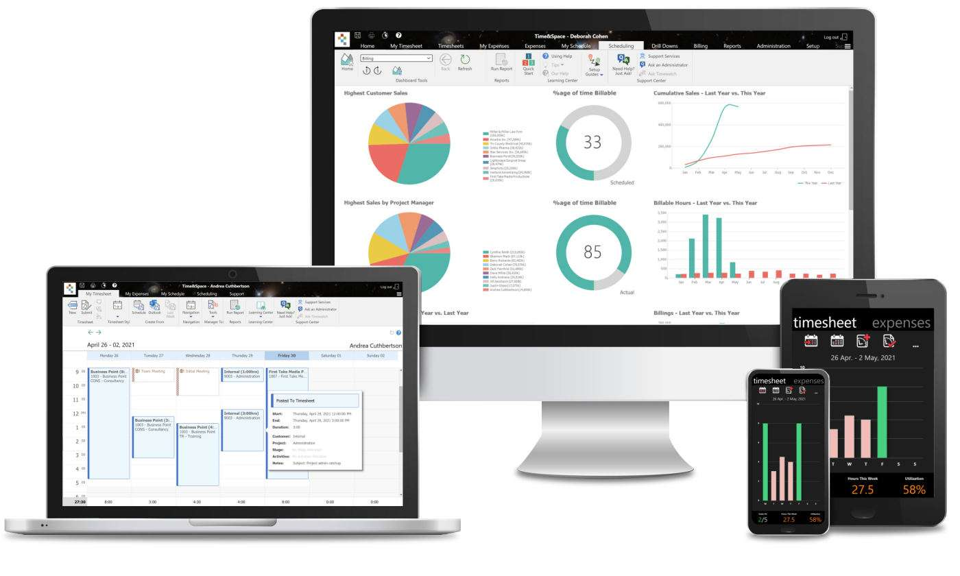 TimeAndSpace Professional Services Automation Software